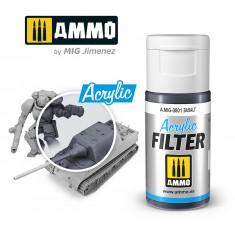 Ammo Mig Jimenez ACRYLIC FILTER Basalt