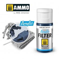 Ammo Mig Jimenez ACRYLIC FILTER Dark Blue