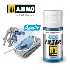 Ammo Mig Jimenez ACRYLIC FILTER Marine Blue