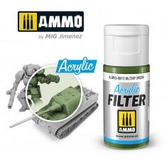 Ammo Mig Jimenez ACRYLIC FILTER Military Green