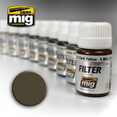 Ammo Mig Jimenez Filter - Dark Grey for White