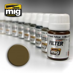 Ammo Mig Jimenez Filter - Brown for Desert Yellow