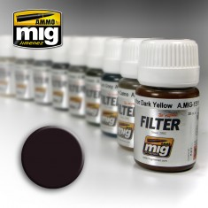 Ammo Mig Jimenez Filter - Brown for Dark Green