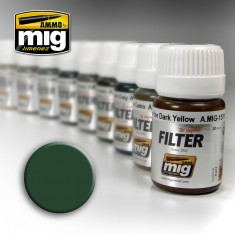 Ammo Mig Jimenez Filter - Green for Grey Green