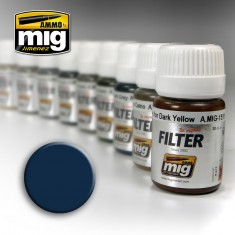 Ammo Mig Jimenez Filter - Blue for Dark Grey