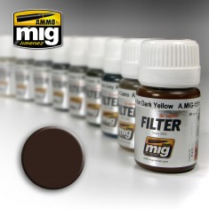 Ammo Mig Jimenez Filter - Brown for Dark Yellow