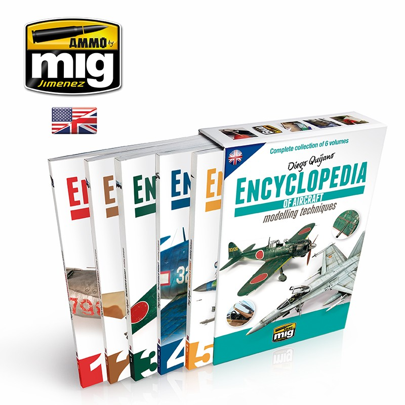 Ammo Mig Jimenez Encyclopedia of Aircraft Modelling Techniques, Complete Collection