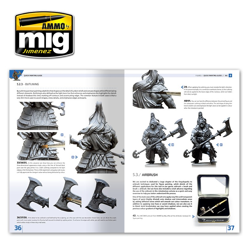 Ammo Mig Jimenez Encyclopedia of Figures Modelling Techniques vol. 0 - Quick Guide For Painting