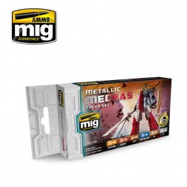 Ammo Mig Jimenez Metallic Mechas Color Set