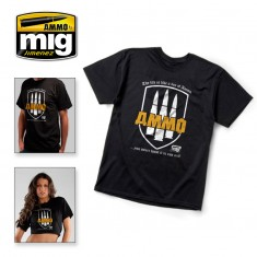 "Ammo Mig Jimenez T-Shirt ""The Life Is A Box Of Ammo. You Never Want It To Run Out!"" - L"