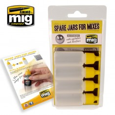 Ammo Mig Jimenez Spare Jars for Mixes (4 X 17 ml Jars with Agitator and Dosifier)