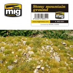 Ammo Mig Jimenez Grass Mat -Stony Mountain Ground
