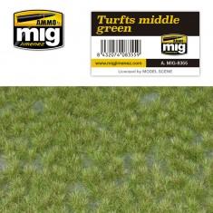 Ammo Mig Jimenez Grass Mat -Turfts Middle Green