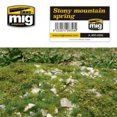 Ammo Mig Jimenez Grass Mat -Stony Mountain - Spring