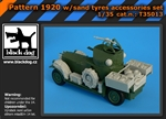 Black Dog British Armoured Car - Sand Tyres (ROD)