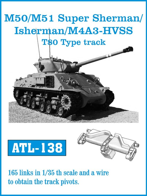 Friulmodel M/50 M/51 Super Sherman / Isherman / M4A3 -HVSS T-80 Type - Track Links