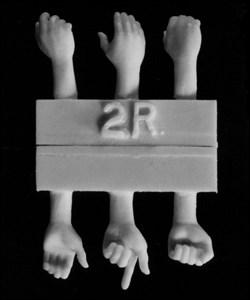 Hornet Models 3 right hands, 3 left hands