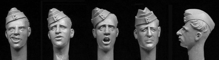 Hornet Models 5 British WW2 sidecaps Heads
