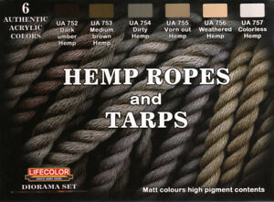 LifeColor Hemp ropes and tarps, paint set