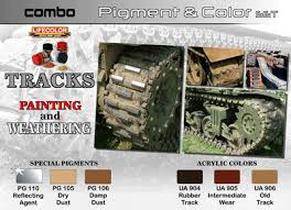 LifeColor Tracks Painting & Weathering Pigment & Colour Combo Set (22m