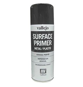 Vallejo Spray Primer, Black, 400 ml