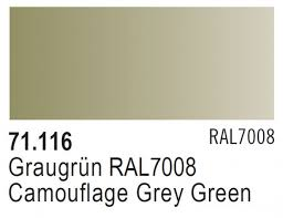 Vallejo Model Air 116 - Camouflage Grey Green RAL 7008