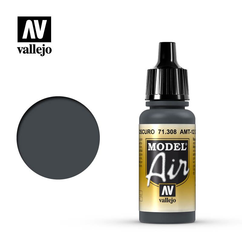 Vallejo Model Air 308 - AMT-12 Dark Grey