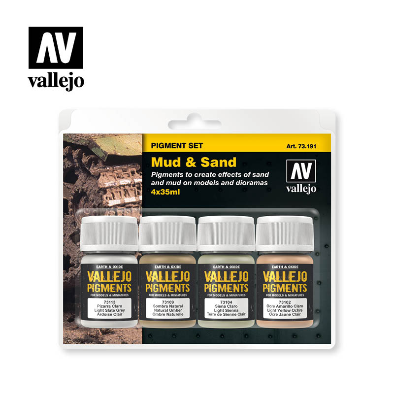 Vallejo Pigment set (Mud and Sand)