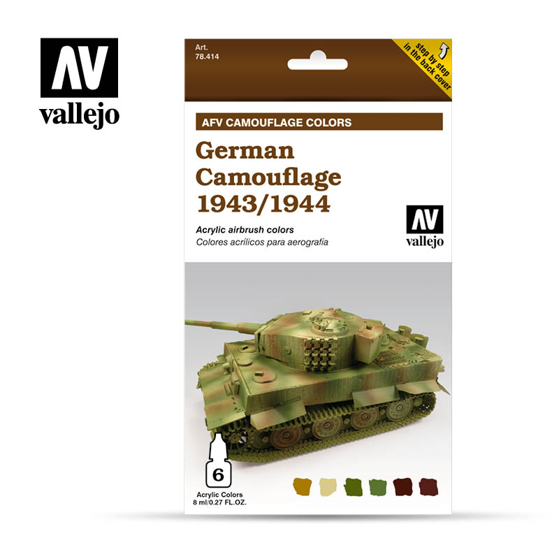 Vallejo Model Air - German Camouflage 1943-1944 6x8ml